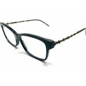 Gucci Women's Black and Gold Eyeglasses!